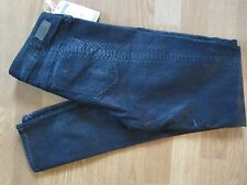GRAY SAKS FIFTH AVENUE Blue Snake Skin Print Dark Wash Skinny Jeans Sz 29