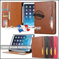 * Etui coque Housse Card PREMIUM QUALITE Cuir PU Leather Case iPad (All models)