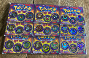 Pokemon Battling Coin Game Lot of 9 Cases 27 Coins (Hasbro 1999)