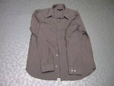 Monsoon, brown stripe long sleeve collared shirt, Chest 44, concealed buttons