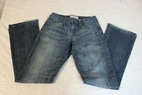 Maurices Juniors Size 1/2 Bootcut Stretch Denim Blue Jeans Distressed *