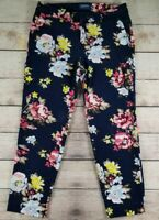 Old Navy Harper Pant Mid-Rise Sz 4R Floral Stretch Skinny Pants Women's Pockets