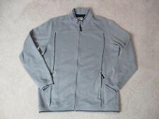 Adidas Sweater Size Adult Large Gray Black Full Zip Long Sleeve Mens