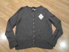 Womens Size M Medium Old Navy Gray Button Up Front Argyle Cardigan Sweater