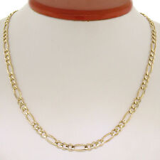 """Men's 14k Solid Yellow Gold 20"""" 4.9mm Figaro Link Chain Necklace & Lobster Clasp"""