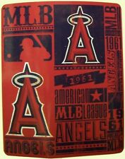 "Blanket Fleece Throw MLB Los Angeles Angels NEW 50""x60"" with protective sleeve"