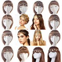 Fashion Women Alloy Rhinestone Head Chain Jewelry Headband Head Piece Hair Band