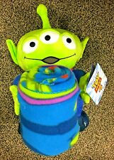 "Disney Toy Story LGM Alien Hugger Set 40"" X 50"" Fleece Throw Blanket with Plush"