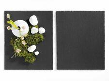 2x Platzset Tischset Servierplatten Schieferplatten Tisch Set 38x31cm Dekoteller