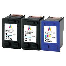 3 21XL Black & 22XL Colour Ink Cartridge unbrand fits for HP Deskjet F2180 F2187