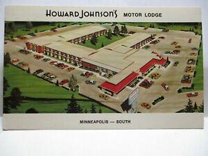 "1970 ADV POSTCARD "" HOWARD JOHNSON'S MOTOR LODGE "" HWY 13 BURNSVILLE MN BIO UNUS"