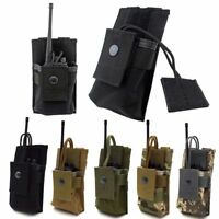 Adjustable MOLLE Radio Holder Tactical Walkie Talkie Holster Open Top Pouch