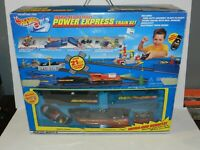 Hot Wheels infra-red Remote Power Express Train Set Complete in Box CIB Tested