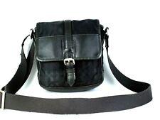Authentic Burberry Black Nylon & Leather Mini Crossbody Shoulder Bag Purse Pouch
