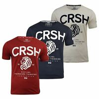 Mens T-Shirt Crosshatch Aichi Tee Crew Neck Short Sleeve Printed Tee Top S-XXL