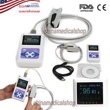 With PC software handheld pulse oximeter SPO2 monitor blood oxygen US Seller FDA