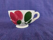 Blue Ridge Festive CUP Red Flower, green have 100s more Southern Pottery items