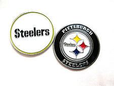 NFL Pittsburgh Steelers Golf Ball Marker Enamel Metal Team Logo 2 Sided Hat