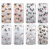 Cute Puppy Pug French-Bulldog Soft Case Cover For iPhone 6 6S Plus 7 Samsung J5