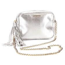 NEW Genuine VICTORIA'S SECRET Silver Cross-Body Handbag Messenger Bag Purse