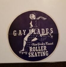 Vintage 1930-1950 Era Decal Gay Blades New York Roller Skating Rink