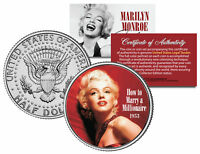 MARILYN MONROE *HOW TO MARRY A MILLIONAIRE* Movie JFK Half Dollar Coin LICENSED