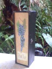 Modern PINOT NOIR Wooden Wine Holder Carry Case Wine Box BAR DISPLAY - in Aust.