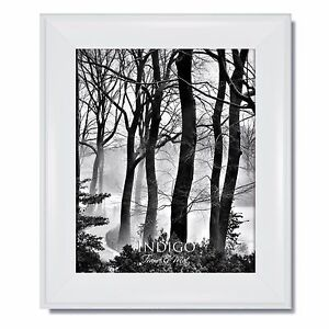 One 16x20 Metro White Picture Frame with Clear Glass and Backing