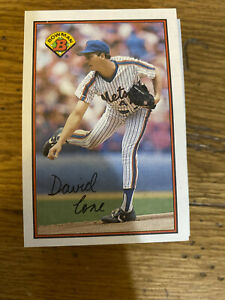 (50) 1989 David Cone #375 New York Mets NR-MT+ Multiple Reduced Shipping