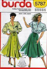 Burda 5787 Flared SKIRT Sewing Pattern Size 10 to 18 Uncut