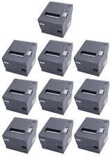 (Lot of 10) Epson TM-T88IV POS Thermal Printer, Ethernet Interface, Dark Grey