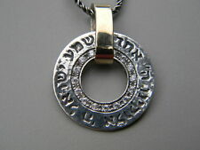 Hebrew Amulet Charm  Sterling Silver 925 Pendant Necklace