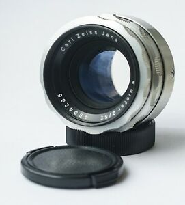 Carl Zeiss Jena BIOTAR Lens f/2 58mm Silver 10-BLADES version M42