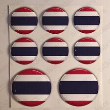 Pegatinas Tailandia Pegatina Bandera Tailandia Redondas 3D Adhesivo Relieve