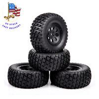 4PCS 1/10 Short Course Truck Tires&Wheel 12mm Hex For RC 1:10 TRAXXAS SLASH Car