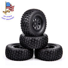 4PCS 12mm Hex Short Course Truck Tires&Wheel For RC HPI 1:10 TRAXXAS SLASH Car