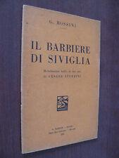 IL BARBIERE DI SIVIGLIA.G. ROSSINI.A. BARION. I EDIZ. 1931