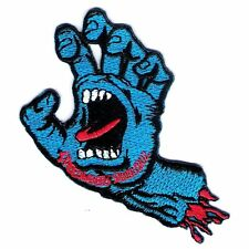 SpeedWheels Santa Cruz Screaming Hand SKATEBOARD Embroidered Iron on Patch # WIT