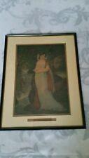 Gravure ancienne portrait Mme Lucien de Bonaparte d'après Baron Gros