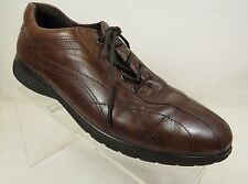 ECCO Brown Leather Lace-Up Oxford Shoes Women's Size US 6.5, EU 39