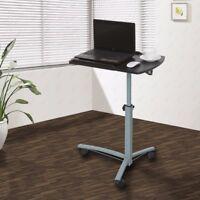 Rolling Laptop Table Overbed Desk Tilting Tabletop tv Food Tray Hospital PC