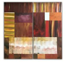 Unframed Original Diptych Painting 'Scraps' by artist Christopher Weigand 2009