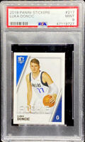 Luka Doncic 2018 Panini Stickers #217 Mavericks RC ROOKIE Mint PSA 9 POP 5