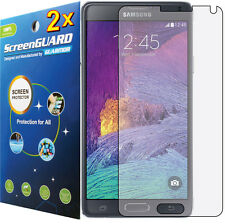 2x Clear LCD Screen Protector Cover Samsung Galaxy Note 4 SM-N910 N910F N910H
