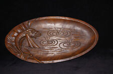 antique French wooden wood hand carved platter bread tray chinese spirit