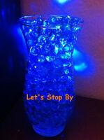 100g Blue Water Bead + 12 LED submersible Wedding Home Decoration Vase light