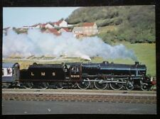 POSTCARD STAINER CLASS 5 LOCO NO 5305 - AT SCARBOROUGH ON A SPECIAL IN 1977