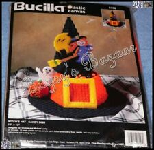 Bucilla WITCH'S HAT CANDY DISH Halloween Plastic Canvas Kit -V. & M. Lamp - 6158