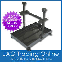 LARGE BOAT BATTERY STABILISER TIE HOLD DOWN PLASTIC TRAY-Boat/Caravan/4x4/Marine