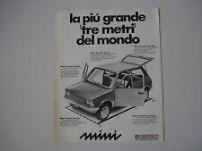 advertising Pubblicità 1975 INNOCENTI MINI 90/120